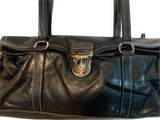 PRADA VITELLO DAINO Luxurious Black Calfskin Satchel Tote Bag cape cod fashionista
