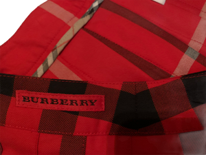 BURBERRY -side  WRAP PLEATED PLAID RED SKIRT & BURBERRY POLO cape cod fashionista