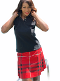 BURBERRY - WRAP PLEATED PLAID RED SKIRT & BURBERRY POLO cape cod fashionista