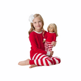 KIDS & DOLLS MATCHING STRIPED PAJAMA SET