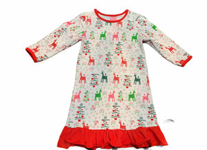 MATCHING GIRLS & DOLLS HOLIDAY LONG SLEEVE NIGHTGOWN
