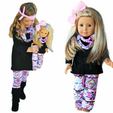 matching Aztec 3 piece  dolly and me outfits cape cod fashionista
