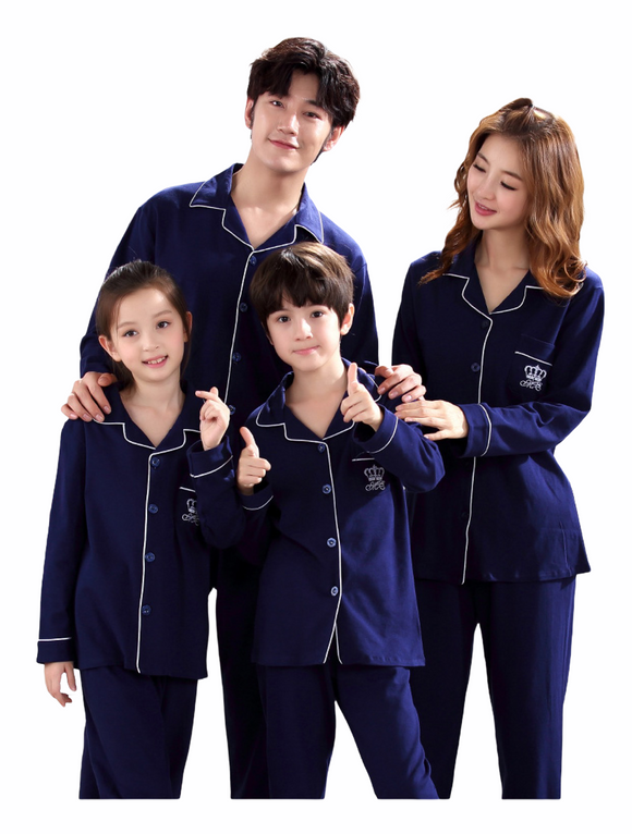 BUTTON DOWN MONOGRAM 2 PC MATCHING FAMILY PAJAMAS