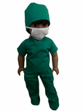 5pc MEDICAL SCRUBS UNIFORM FOR AMERICAN GIRL DOLLS