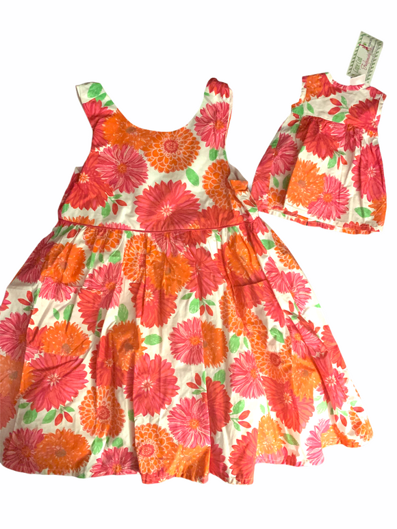 MAGGIE & ZOE MATCHING DOLLIE & ME FLORAL DRESS NWT