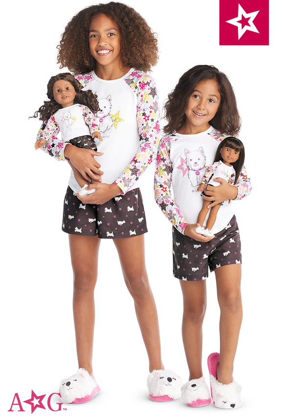 American Girl - MATCHING COCONUT PAJAMAS for 18 inch Dolls- Truly Me 2018