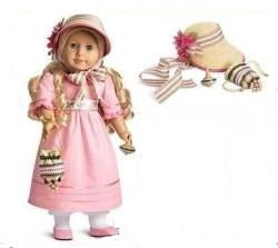 American Girl Beforever Caroline Complete Meet Dress & Accessories