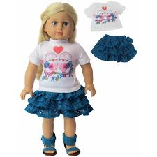 2 PC LOVE BIRDS HEART SET FOR AMERICAN GIRL DOLL