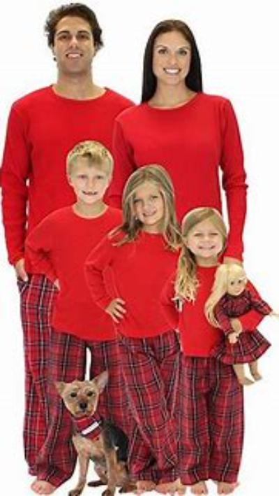 Family Holiday Matching PLAID CHRISTMAS 2 PC PAJAMA SET