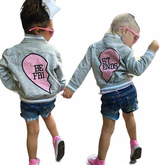 GIRLS BEST FRIEND -  MATCHING SPRING BOMBER JACKET