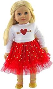 HEART n ARROW TULLE DRESS FOR AMERICAN GIRL DOLLS
