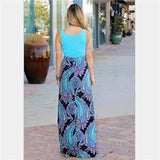 MOMMY & ME MATCHING MOTHER DAUGHTER  GIRLS - WOMEN'S CASUAL PAISLEY MAXI DRESS