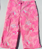 LILLY PULITZER TODDLER GIRLS  PINK GRRRANIUM LION CUB FLORAL VINTAGE Cropped Pant CAPRI PANTS  MATCHING MOTHER DAUGHTER MOMMY AND ME