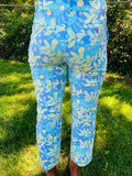 lilly pulitzer under water tropical fish crab crop ankle length blue green stretch pant