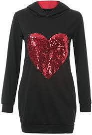 MATCHING MOMMY & ME SEQUIN HEART HOODIE cape cod fashionista