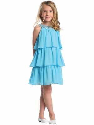 SWEET KIDS BIG GIRLS SPECIAL OCCASION CHIFFON PARTY DRESS