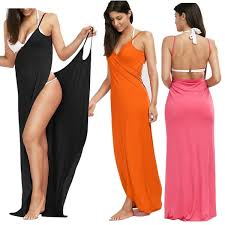 WOMEN'S MAXI WRAP COVER UP CASUAL BEACH WEAR - FEATURED