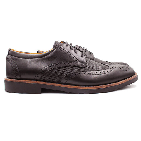 Derby brogue en Cuir Marron
