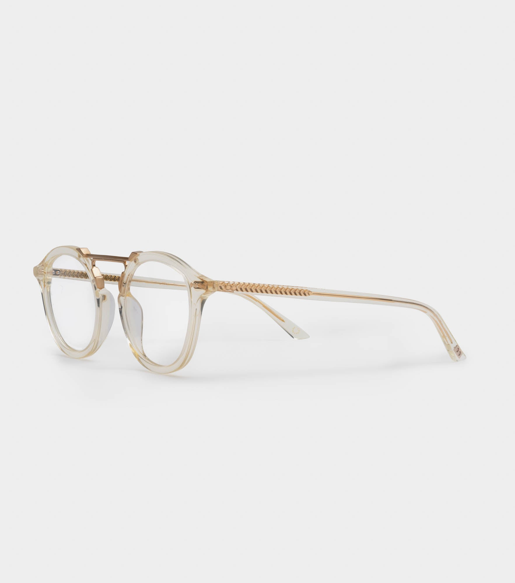 MELROSE OPTICAL Champagne Crystal X 24K Brushed Gold