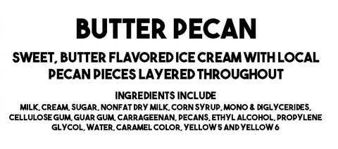 Butter Pecan Description and Ingredients