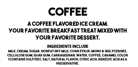 Coffee Description and Ingredients