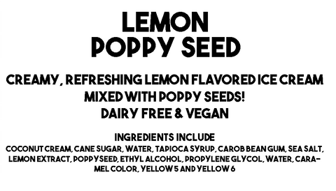 Lemon Poppy Seed Ice Cream Description and Ingredients
