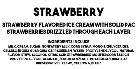 Strawberry Ice Cream Description and Ingredients