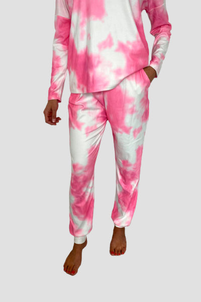 Pyjama Cocooning Rose Tie and Dye