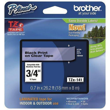 Brother Cinta Negro/Transparente Pt-300