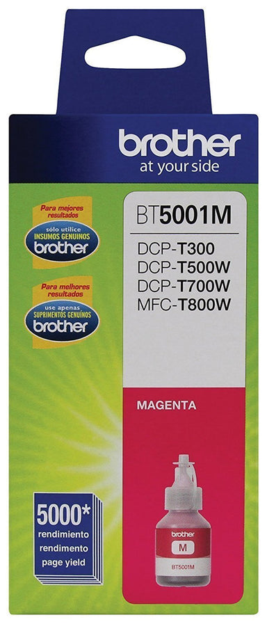 Botella de tinta Brother color magenta BT5001M
