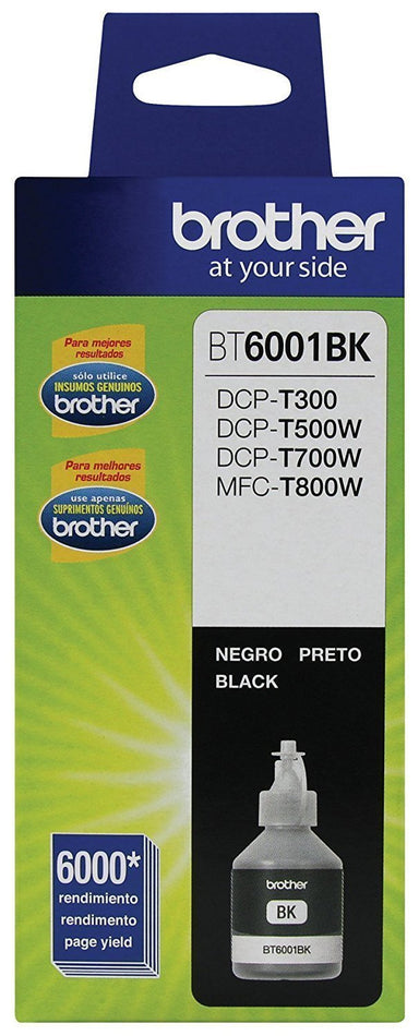 Botella de tinta Brother color negro BT6001BK