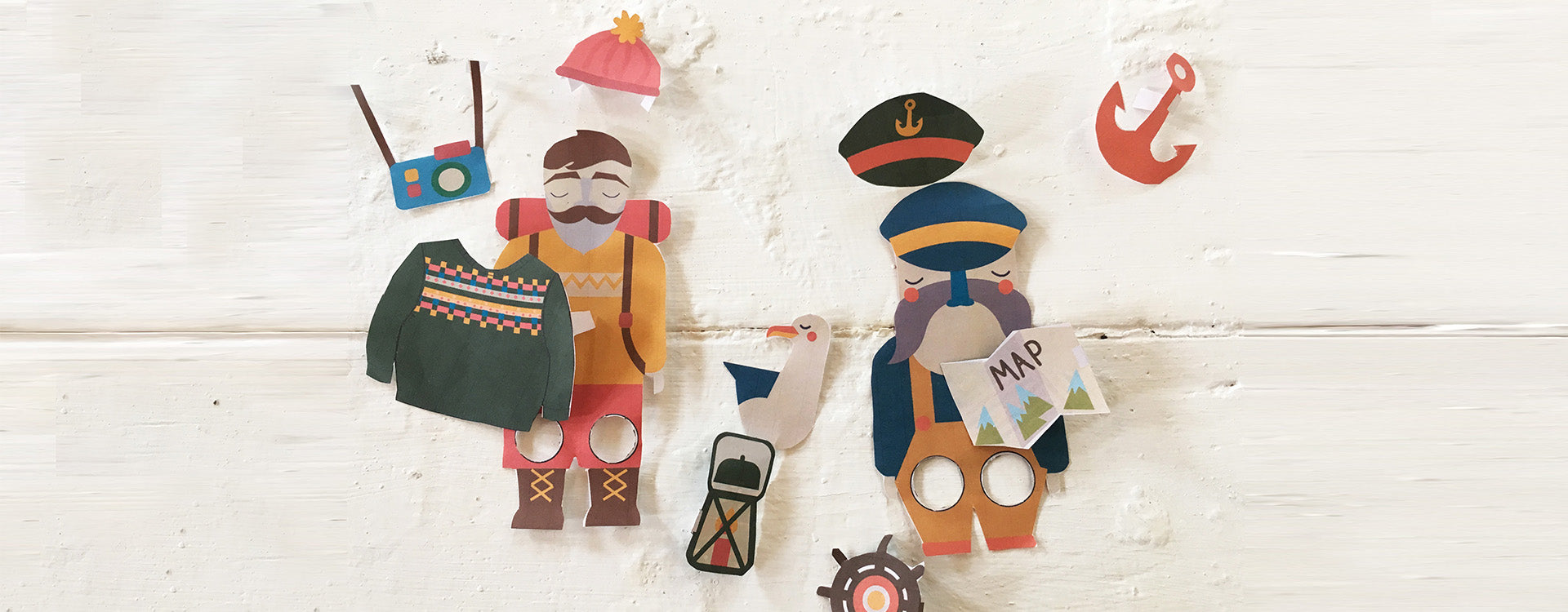 Dress up finger puppets! It's bank holiday craft time.