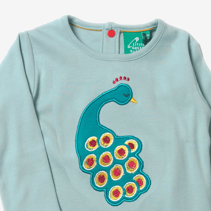 Midnight Peacock Applique Tee