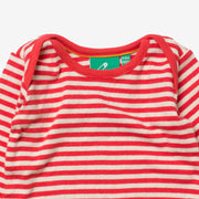 Pointelle Red Stripe Baby Body