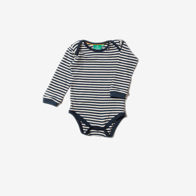 Pointelle Navy Stripe Baby Body