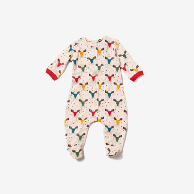 Rainbow Moose Baby Grow
