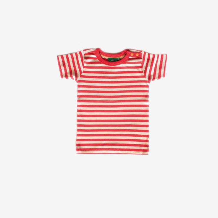 Red Stripe Short Sleeve Tee