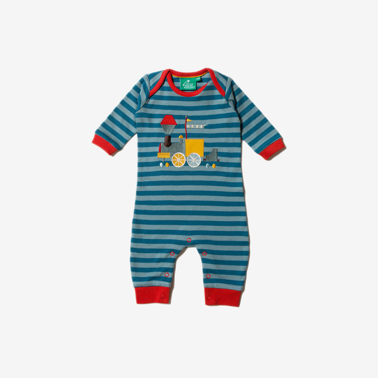 Sky Train Applique Playsuit
