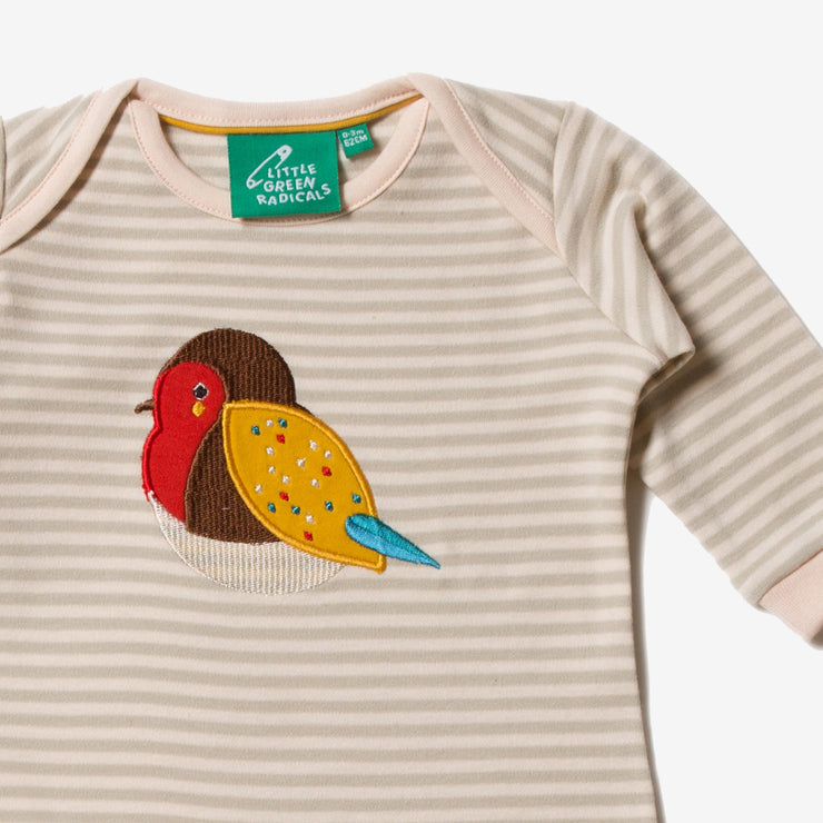 Rainbow Robin Applique Playsuit