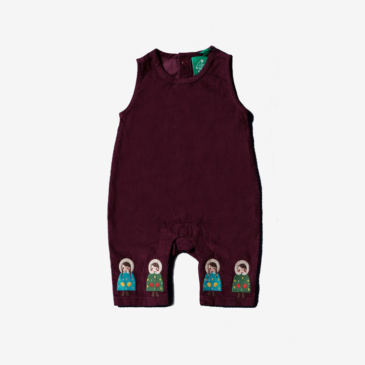 Dressed For Snow Embroidered Dungarees