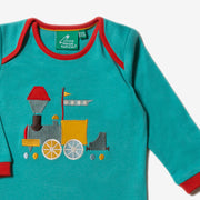 Sky Train Applique Long Sleeve Tee