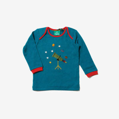 Star Gazer Applique Long Sleeve Tee