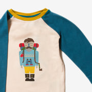Climb The Mountain Teal Raglan Top