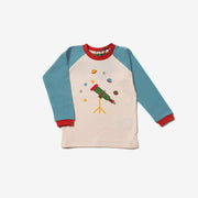 Star Gazer Blue Raglan Top
