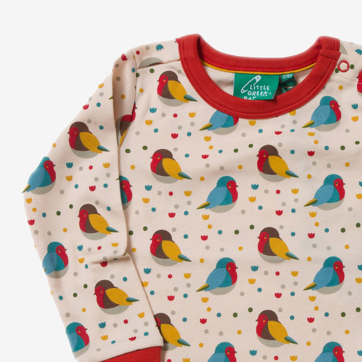 Rainbow Robins Long Sleeve Tee