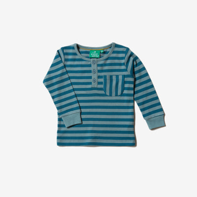 Winter Blue Stripe Pocket Tee