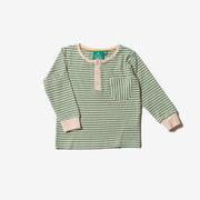Alpine Green Stripe Pocket Tee