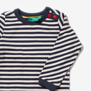 Navy Stripe Long Sleeve Tee