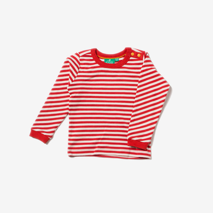 Red Stripe Long Sleeve Tee