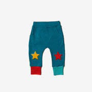 Autumn Teal Star Joggers